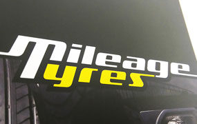 Mileage Tyres Logo & Branding by Mind's I Graphic Design