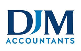 DJM Accountants Logo by Mind's I Graphic Design