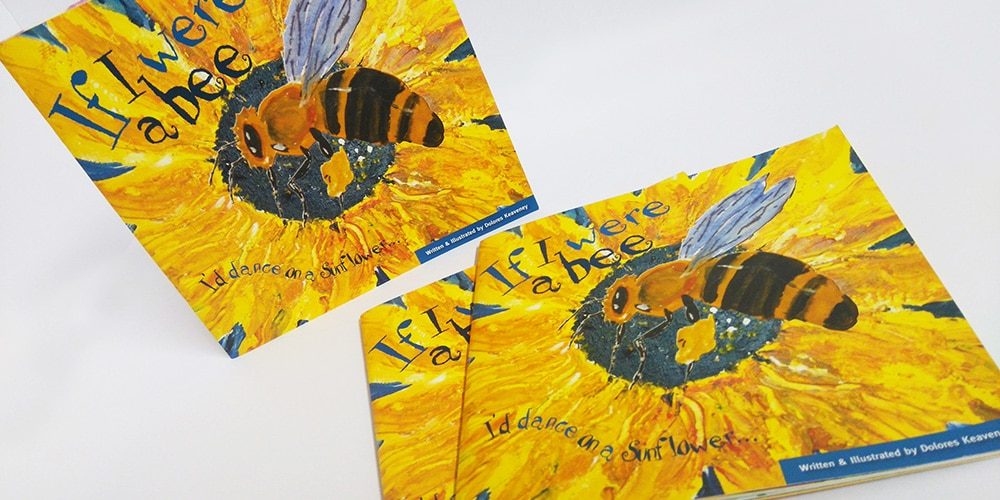 'If I Were A Bee' children's book, design and layed out by Mind's I Graphic Design