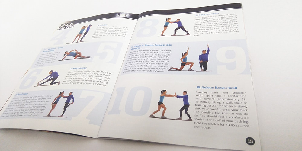 10 Exercises Pages, i Run for Fun Diary by Mind's I Graphic Design