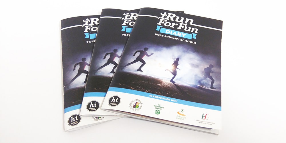 iRun for Fun Diary front cover by Mind's I Graphic Design